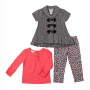 Little Lass Sweater, Top and Leggings - Preschool Girls 4-6x