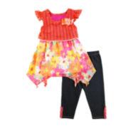 Nanette Baby Top and Leggings - Preschool Girls 4-6x