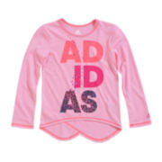 adidas® Long-Sleeve Graphic Tee - Preschool Girls 4-6x