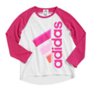 adidas® Long-Sleeve Graphic Tee - Preschool Girls 4-6x