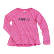 adidas® climalite® Long-Sleeve Tee - Preschool Girls 4-6x