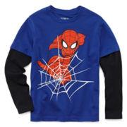 Spider-Man Long-Sleeve Layered Tee - Preschool Boys 4-7