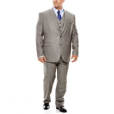 jcpenney.com | Stafford® Travel Gray Sharkskin Suit Separates - Big & Tall