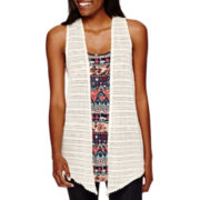 Self-Esteem Sleeveless Layered Tunic Vest