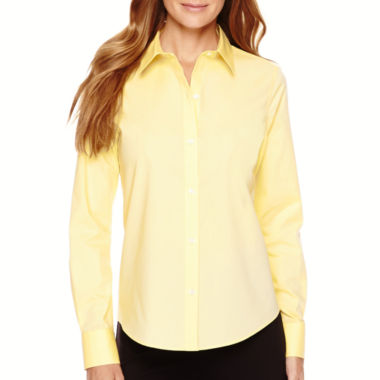 jcpenney.com | Liz Claiborne® Long-Sleeve Wrinkle-Free Oxford Shirt