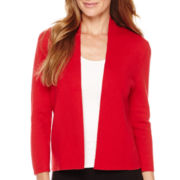 Liz Claiborne® Long-Sleeve Drape-Neck Cardigan
