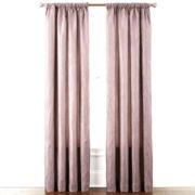 Liz Claiborne® Gallery Pleated Taffeta Rod-Pocket Curtain Panel
