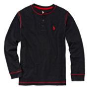 U.S. Polo Assn.® Long-Sleeve Henley - Boys 8-18
