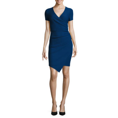 jcpenney.com | Bisou Bisou® Short-Sleeve Sheath Dress