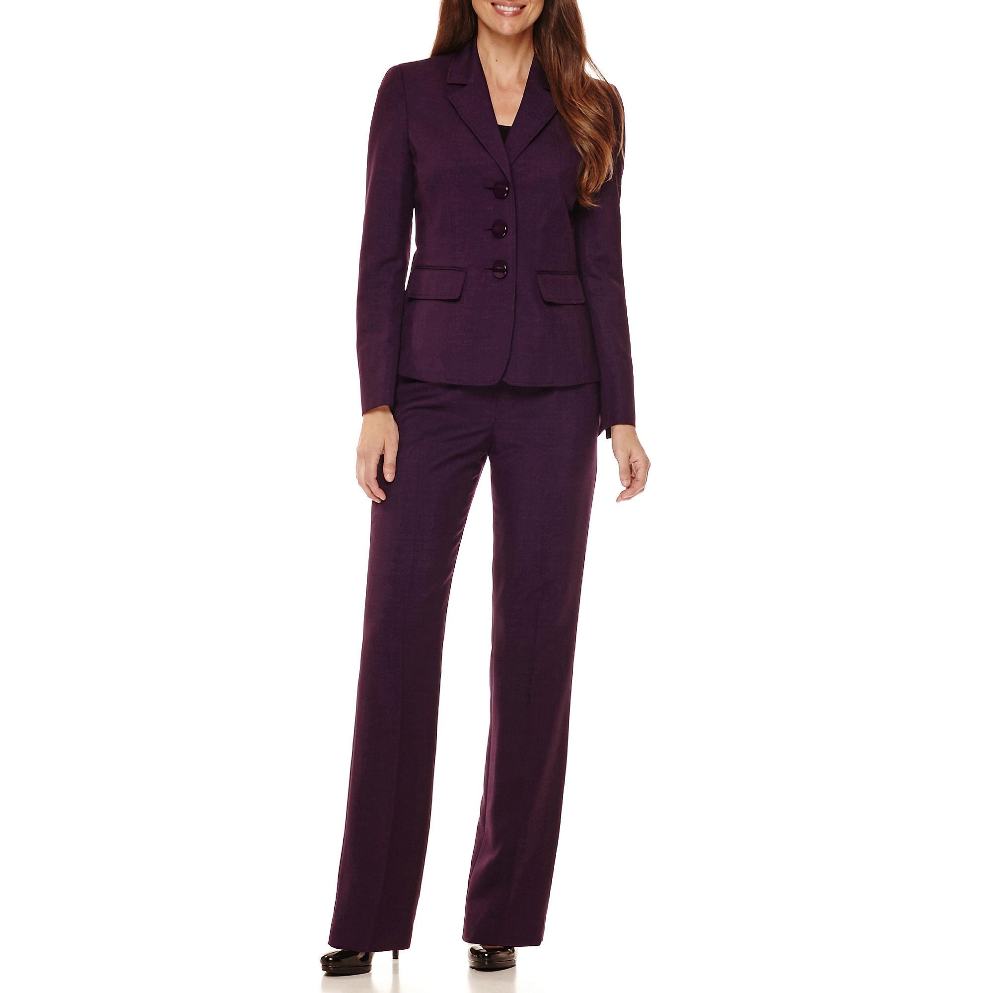 Le Suit Long-Sleeve 3-Button Jacket Pant Suit plus size,  plus size fashion plus size appare