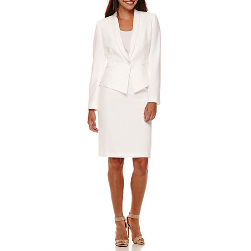Chelsea Rose Long-Sleeve One-Button Skirt Suit