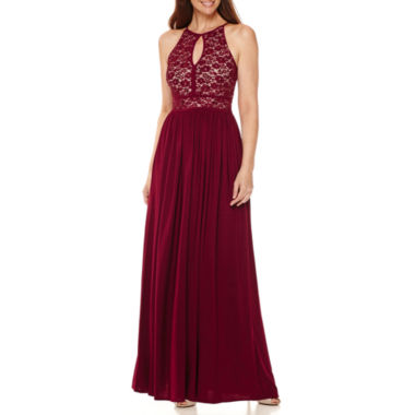 jcpenney.com | R&M Richards Sequin Lace Bodice Halter Gown
