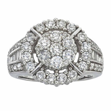 jcpenney.com | Diamond Blossom Womens 2 CT. T.W. White Diamond 14K Gold Cocktail Ring