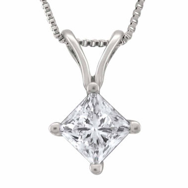 jcpenney.com | Womens 1/2 CT. T.W. White Diamond Platinum Pendant Necklace