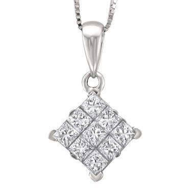 jcpenney.com | Womens 3/4 CT. T.W. White Diamond 14K Gold Pendant Necklace