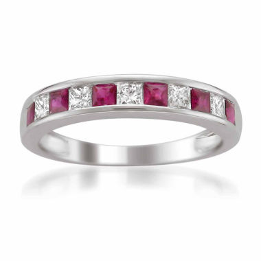 jcpenney.com | Womens 1/4 CT. T.W. Red Ruby 14K Gold Wedding Band