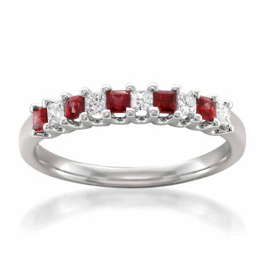 jcpenney.com | Womens 1/5 CT. T.W. Red Lead Glass-Filled Ruby 14K Gold Wedding Band