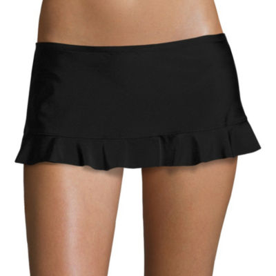 Arizona Mix & Match Black Skirtini Swim Bottoms