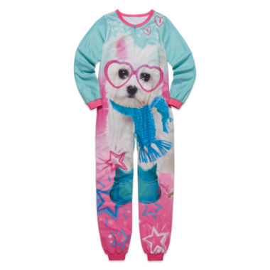 jcpenney.com | Long-Sleeve Aqua Dog Blanket Sleeper - Girls