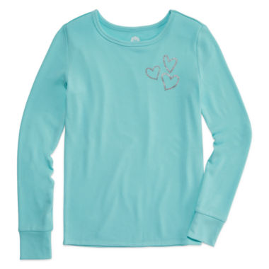 jcpenney.com | Total Girl Aqua Zest Heart Sleep Top - Girls