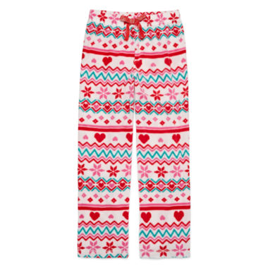 jcpenney.com | Total Girl White Fairisle Pajama Pants - Girls
