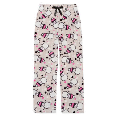 jcpenney.com | Total Girl Modern Gray Snowman Pajama Pants - Girls