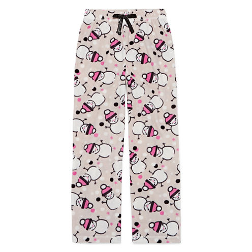 Total Girl Modern Gray Snowman Pajama Pants - Girls