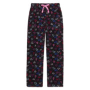 Total Girl Modern Black Hearts Pajama Pants - Girls