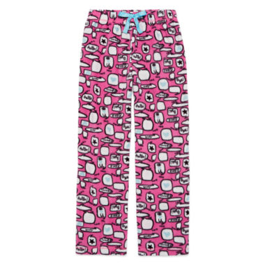 jcpenney.com | Total Girl Phlox Pink Chat Pajama Pants - Girls