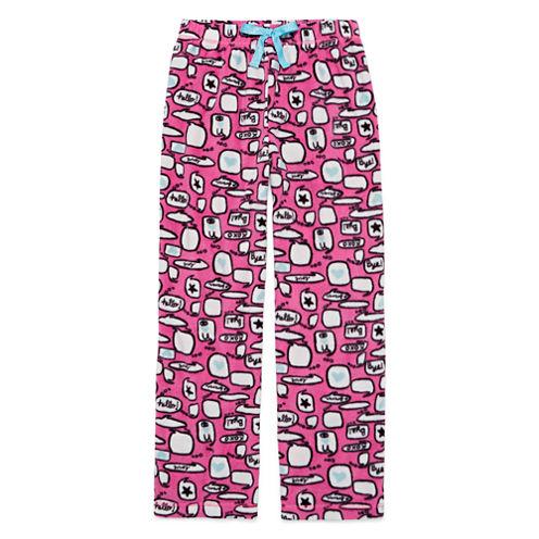 Total Girl Phlox Pink Chat Pajama Pants - Girls
