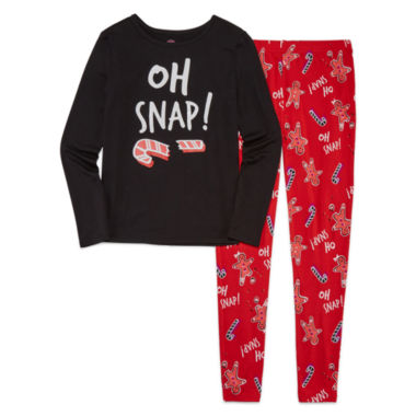 jcpenney.com | Total Girl 2-pc. Oh Snap Tight-Fit Leggings Set - Girls