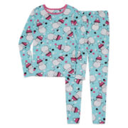 Total Girl 2-pc. Snowman Tight-Fit Leggings Set - Girls