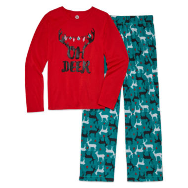 jcpenney.com | Total Girl 2-pc. Oh Deer Pajama Set - Big Kid & Plus