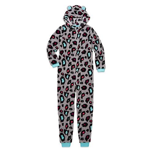 Total Girl Leopard Fleece Blanket Sleeper - Big Kid & Plus