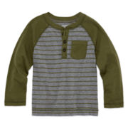 Arizona Long-Sleeve Fashion Henley Tee - Toddler Boys 2t-5t