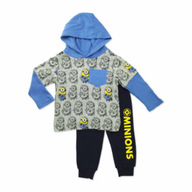 jcpenney.com | Boys Minons Long Sleeve Pant Set-Toddler