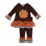 Rare Editions Girls Legging Set-Toddler