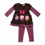 Rare Editions Girls Legging Set-Toddler 2T-5T