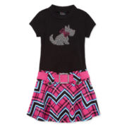 Lilt Short-Sleeve Scottie Dog Marsha Dress - Preschool Girls 4-6x