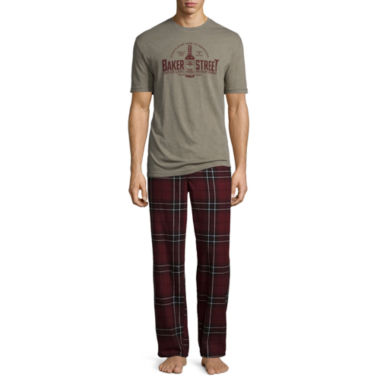 jcpenney.com | Stafford® 2-pc. Flannel Pants and Short-Sleeve Graphic Tee Set