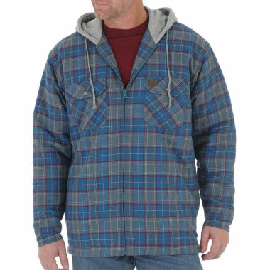 jcpenney.com | WRANGLER RIGGS HOODED FLANNEL SHIRT JACKET BAT