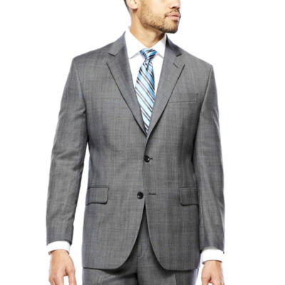 Stafford® Gray Glen Check Suit Jacket - Classic Fit