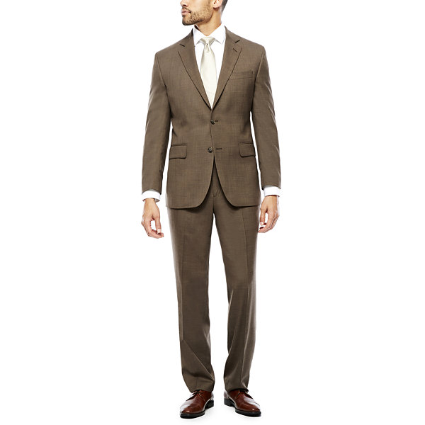 Stafford® Travel Stretch Brown Sharkskin Suit Separates -Classic ...