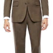 Stafford® Brown Sharkskin Classic Fit Jacket And Classic Fit Flat Front Pant