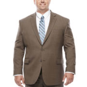 Stafford® Brown Sharkskin Big And Tall Fit Jacket