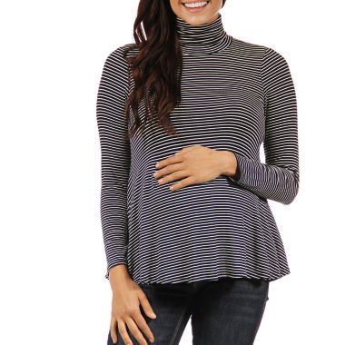 jcpenney.com | 24/7 Comfort Apparel Turtleneck Pullover Sweater-Maternity