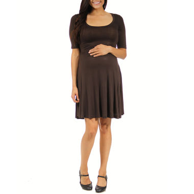 jcpenney.com | 24/7 Comfort Apparel A-Line Dress-Maternity