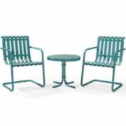 Gracie 3-pc. Outdoor Metal Seating Set