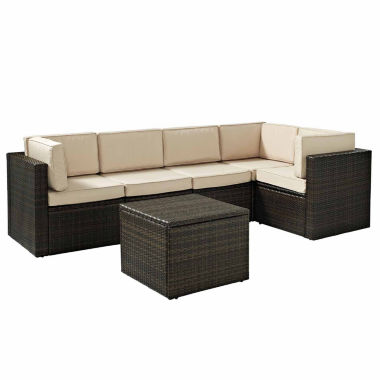 jcpenney.com | Palm Harbor Wicker 6-pc. Patio Sectional