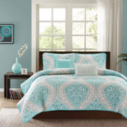 Intelligent Design Lilly Damask Comforter Set